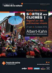 Affiche du Festival Allers-Retours 2016 au musée Albert-Kahn.