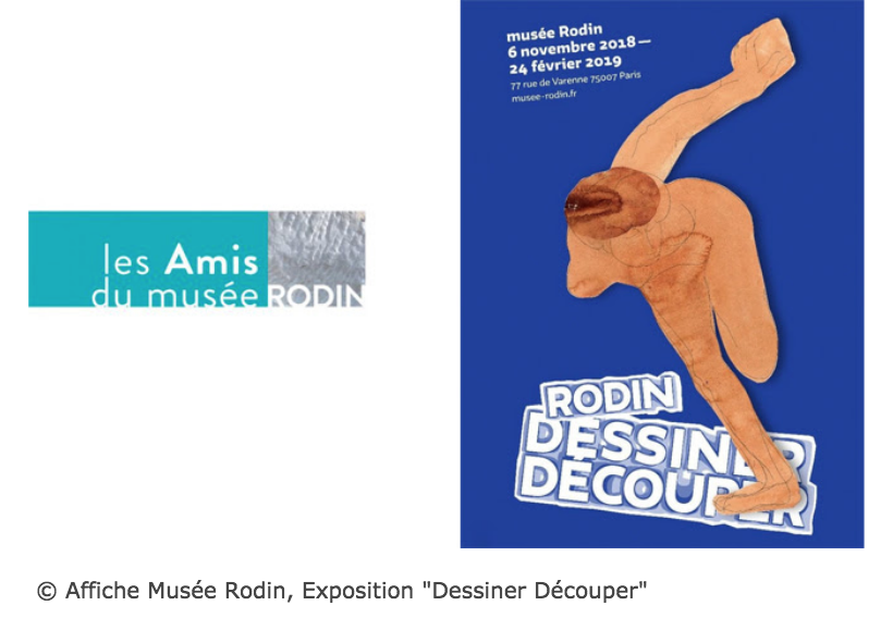 """Affiche Musée Rodin, Exposition """"Dessiner Découper"""""""